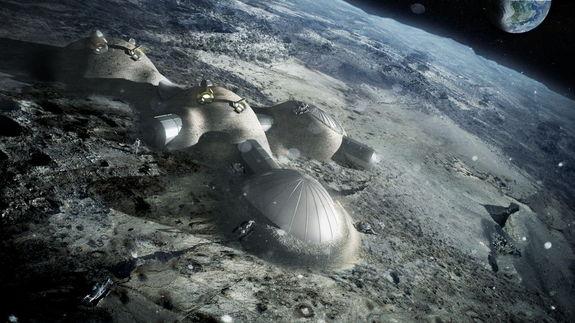 Artist's rendering of lunar base. Photo credit: ESA/Foster + Partners