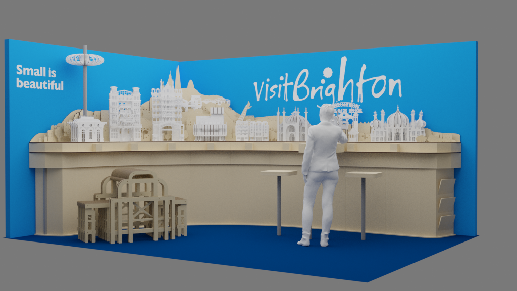 Small is Beautiful exhibition stand visualisation in 3D